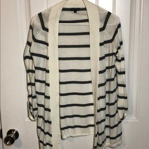 Gray Stripe Cardigan